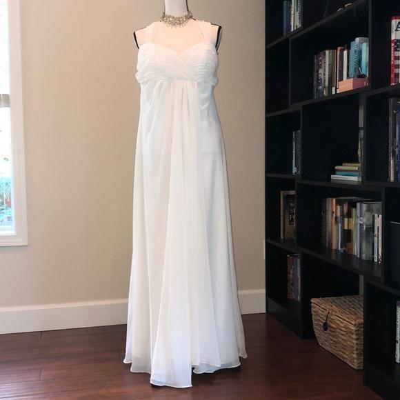 David\'s Bridal Dresses   David Bridal Grecian Style Wedding Gown ...